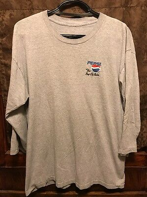 PEPSI THE JOY OF COLA ~ Men's XXL ~ Embroidered 3/4 Sleeve T Shirt
