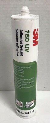 New 3M 760 UV Adhesive Sealant, White, 9.8 oz. (290mL), BF700420, Free Shipping