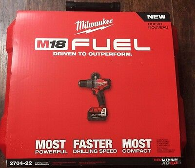 Milwaukee M18 Fuel 1/2 In. Hammer Drill/driver Kit