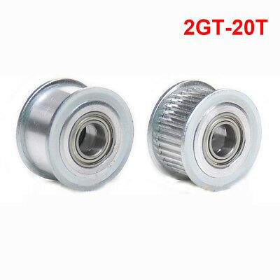 GT2 Idler Timing Pulley Bearing 16T 20T 3//5mm Bore F 6mm Belt /'Reprap 3D PrBLUS