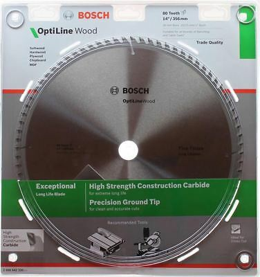 Bosch Optiline Wood Circular Saw Blade 356mm (14 Inch) 80 Teeth