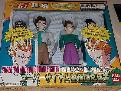 "Dragon Ball Z  action figure 2 pk 5"" (bandai Japan 1997) gohan & teen goten"