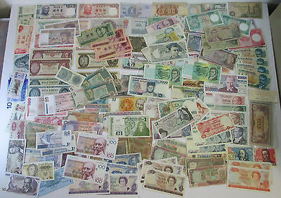 WOW! ***Huge*** Lot of About 140 Foreign Paper Money Currency Notes