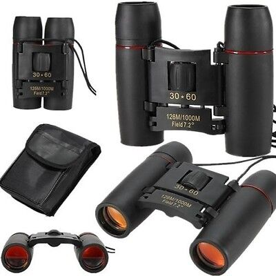 30x60 126m/1000m Day&Night Vision Folding Binoculars Telescope with Bag Durable