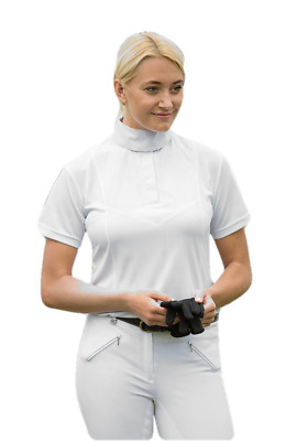 Shires Ladies Short Sleeve Stock Shirt - White