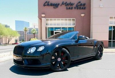 2014 Bentley Continental GT GTC V8 Convertible 2-Door 2014 Bentley GTC V8 S Convertible Launch Edition 6k Miles LOADED Immaculate WOW!