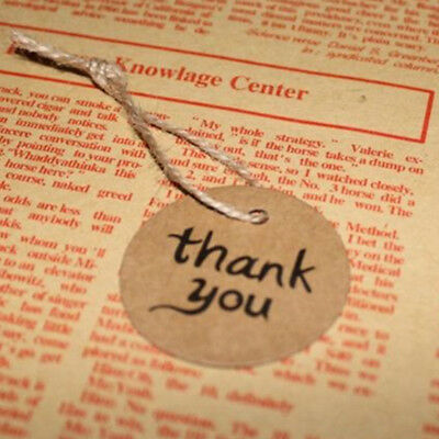 Decor Bonbonniere Favor Thank You Brown Kraft Wedding Paper Tags