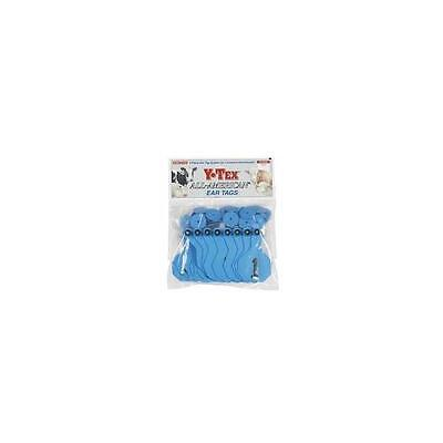Y-Tex EZ 1-Piece Medium Cattle Ear Tags Blue Numbered 101-125