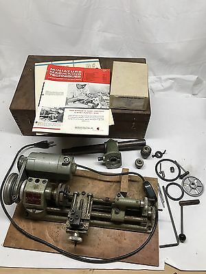 Vintage EMCO UNIMAT Austria Mini Lathe Model SL Working