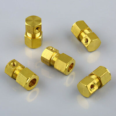 """5pcs 3/8"""" Brass Compression Terminal End Connector with 10/24 Threaded Fitting"""