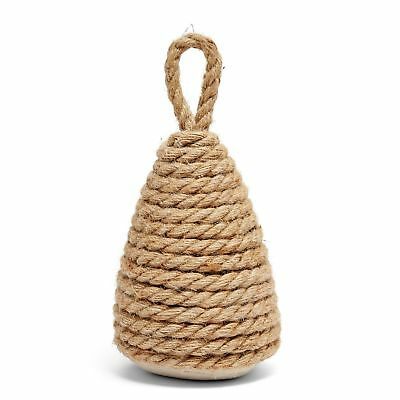 Cone Door Stop Stopper Handle Fabric Home Decor Natural Rope Brown