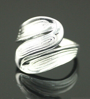 925 Solid Sterling Silver Plated Women/Men NEW Fashion Ring Gift SIZE OPEN H204