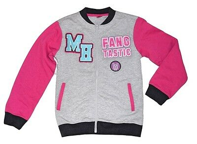 Monster High Kids Girls Jacket Zip Up Top Fleece - Grey Size 9 10 11 12