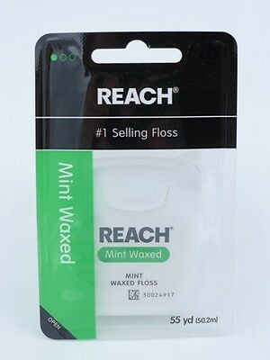 REACH Waxed Mint Dental Floss 55 yards (50.2 metres)