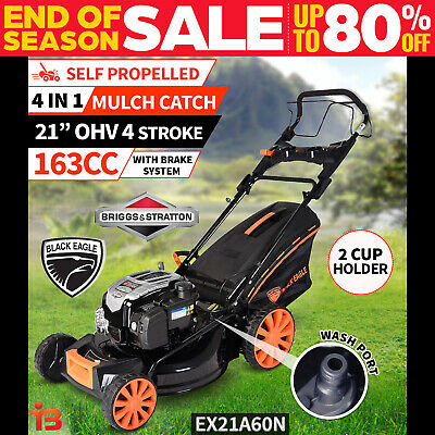 "New Lawn Mower Self Propelled 21"" Briggs & Stratton 4 Stroke Petrol Lawnmower"