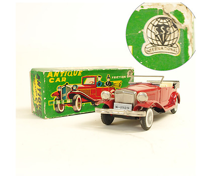 Tin Toy Sanesu Antique Car made in Japan 1960's vintage box Friction F/S 436