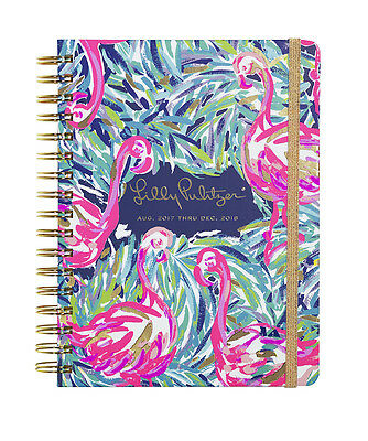 2017-2018 Lilly Pulitzer Large Agenda FLAMENCO BEACH LG Spiral Datebook Planner