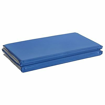 "ECR4Kids 4-Fold Value Blue and Grey Rest Mat (5/8"" Thick)"