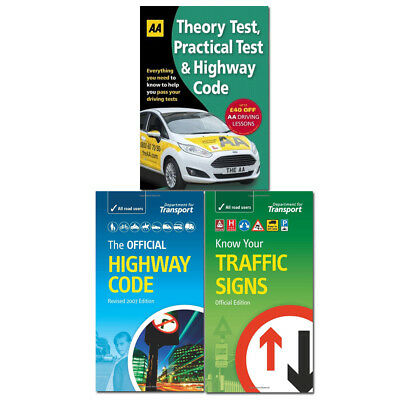 Driving Theory Test, Official Highway Code 3 Books Collection Driving Skills NEW