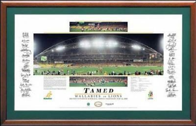 Wallabies vs British and Irish Lions Tamed Signed Lithograph UNFRAMED