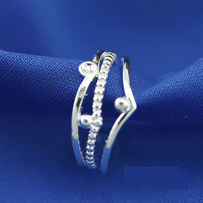 925 Solid Sterling Silver Plated Women/Men NEW Fashion Ring Gift SIZE OPEN H210