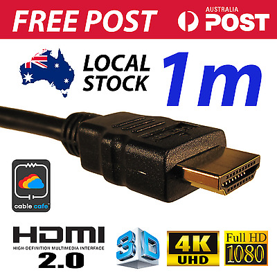 1M HDMI Cable v2.0 4K UHD 2160p 1080p 3D High Speed With Ethernet FAST FREE POST