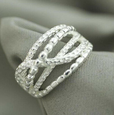 925 Solid Sterling Silver Plated Women//Men NEW Fashion Ring Gift SIZE OPEN H206