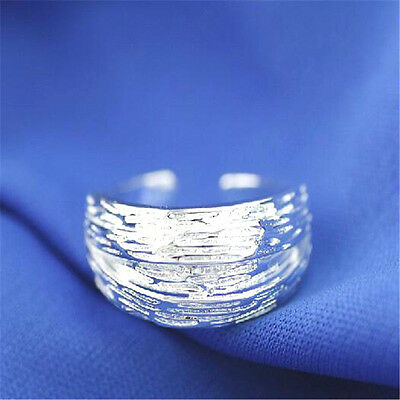 925 Solid Sterling Silver Plated Women/Men NEW Fashion Ring Gift SIZE OPEN H213