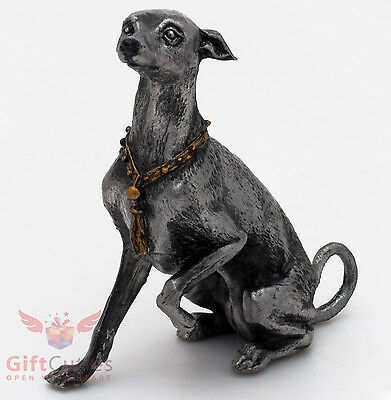 Tin Pewter Figurine of Italian Greyhound Dog IronWork