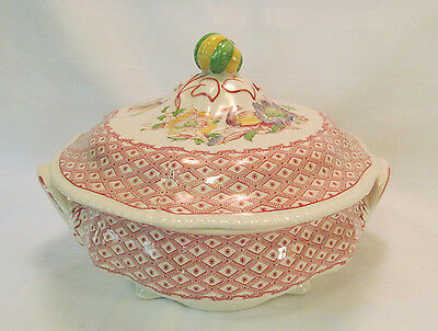 Ridgways Pottery England SOMERSET Serving Bowl with Lid Gorgeous Pattern