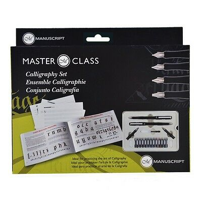 Manuscript Master Class Calligraphy Set with Fountain Pens, Nibs, Ink & Book