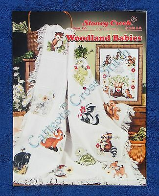 Cross Stitch Pattern Woodland Babies Afghan & Birth Frog Mouse Turtle Fawn Owl