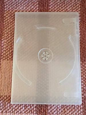 "5/8"" 14 mm Double DVD Case Movie Box New Clear New holds 2 discs BUY 1 SINGLES"