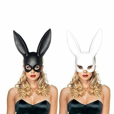 Cosplay Costume Party PP Rabbit Ears Mask Black White Halloween Decoration XR SS