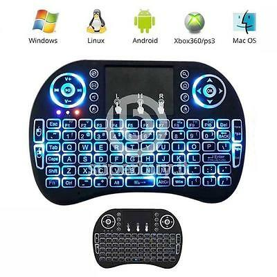 Mini Keyboard Touchpad Tastiera Led Retroilluminata Wireless USB per Android Sma