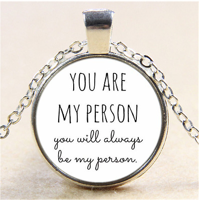 You are my person Photo Cabochon Glass Tibet Silver Pendant Necklace#CI53