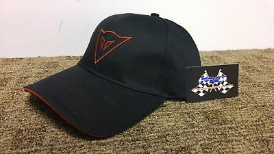 New Dainese Racing Service Adult Hat/Cap, Black/Red, Adjustable