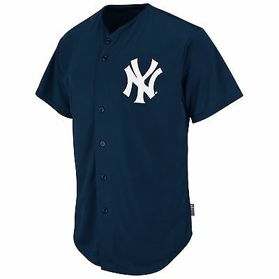 Majestic Adult MLB Cool Base Pro Style Game New York Yankees Jersey, Navy
