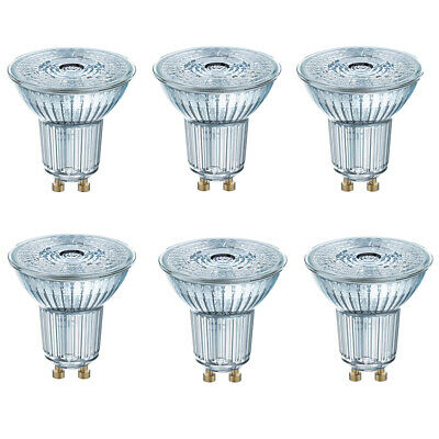 OSRAM LED SUPERSTAR PAR16 GU10 4,5W=35W 230lm warm white 2700K dimmable 90Ra 6er