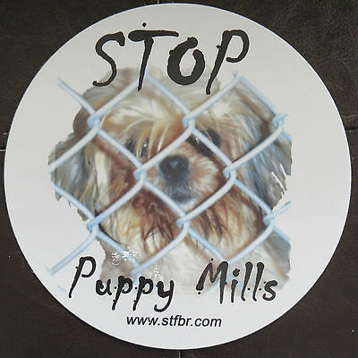 Stop Puppy Mills Large Circle Magnet