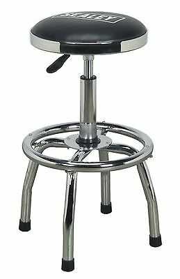 Sealey SCR17 Workshop Stool Heavy-Duty Pneumatic Adjustable Height Swivel Seat