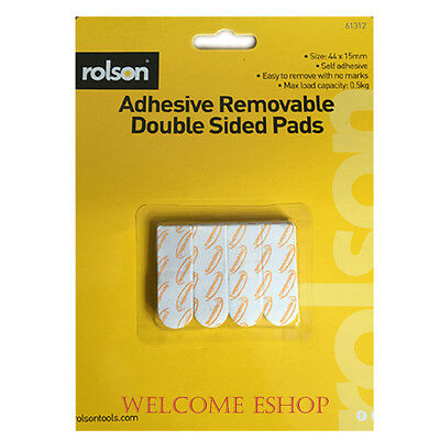 Rolson 12pc Adhesive Removable Double Sided Pads - 61312