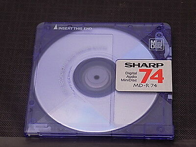 10 SHARP MD-R-74 blank recordable mini discs 74 minutes
