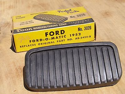 NOS Doan Rubber Brake Pedal Pad Item 3026 Ford O Matic 1952 AB-2454-B