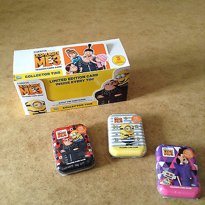 Despicable Me 3 Trading Card Mini Tin Inside 39 Cards + 1 Limited Edition Card
