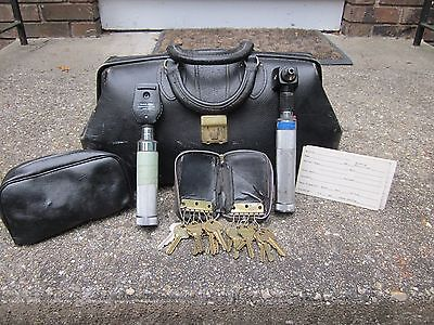 Vintage Schell 71426 Doctor's Bag w/ Keys, Welch Allyn Tools -Pediatrician's Bag