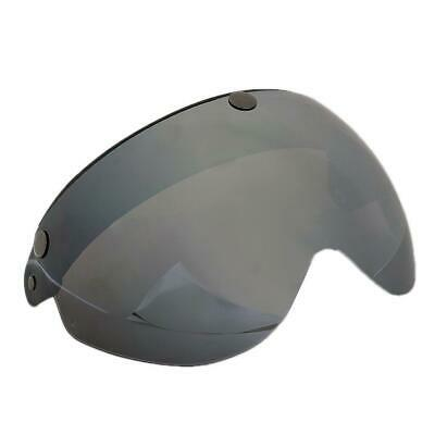 Universal Motorcycle Helmets 3-Snap Flip Up Visor Shield with Brown Lens