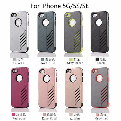 10/Lot Hybrid Dust Proof Rubber Impact Protective Case Cover f iPhone SE 5 5S