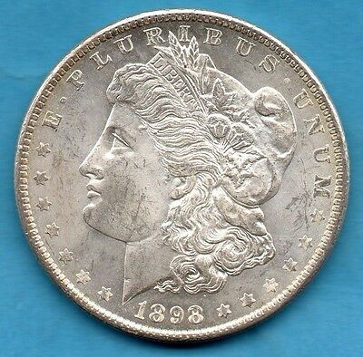 1898 Usa Silver Morgan Dollar Coin. New Orleans Mint. United States America $1
