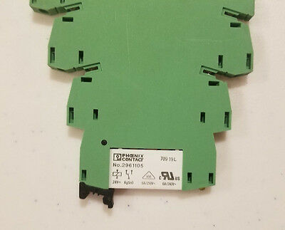(LOT OF 3) Phoenix Contact 24VDC Relay with Socket 2961105 2966016